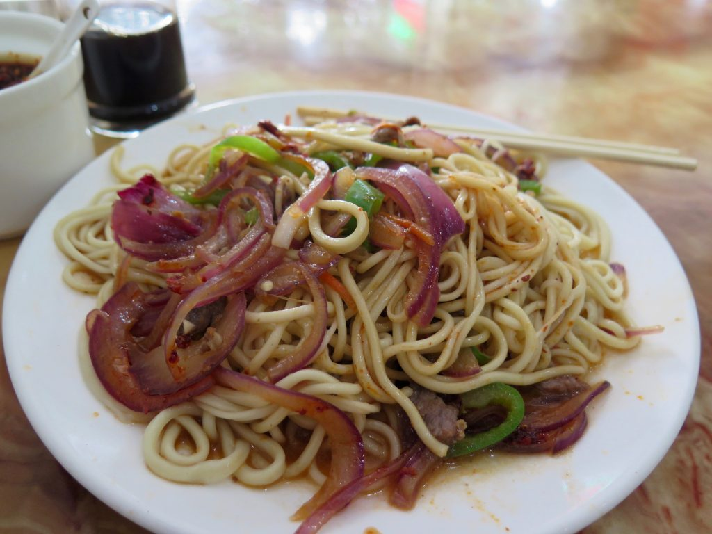 "A plate of my favorite ""lan zhou la mien"" is a soothing comfort food to help me deal with culture shock. ©KettiWilhelm2015"