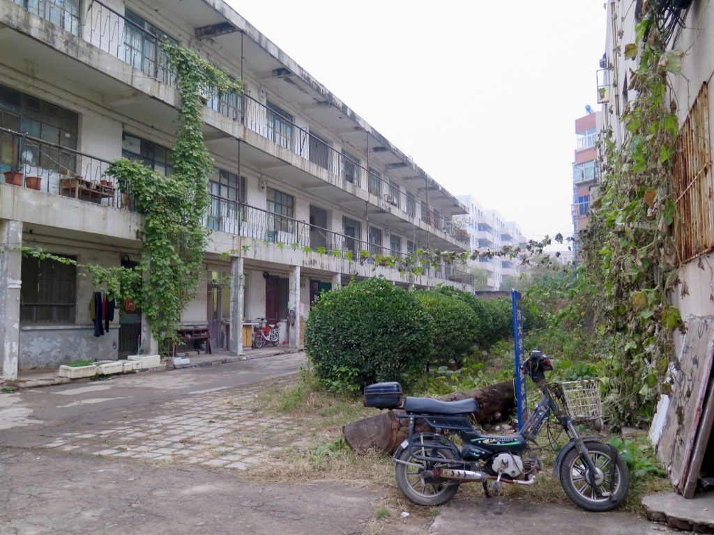A block of run-down university teachers' housing apartments on the campus where I live as an expat in China. ©KettiWilhelm2014