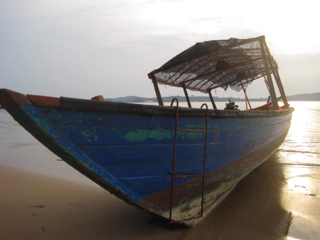 A quaint looking (sketchy) Cambodian boat that took me on an adventure on the high seas. ©KettiWilhelm2015