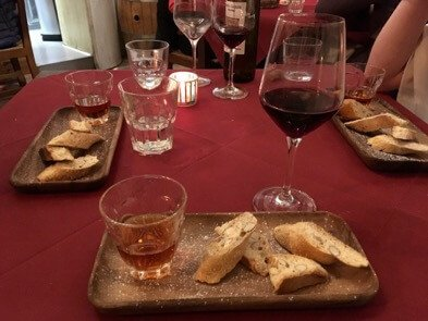 One of the best ways to eat dessert in Italy: cookies and wine. (Look for cantucci and vin santo on the menu.) ©KettiWilhelm2017