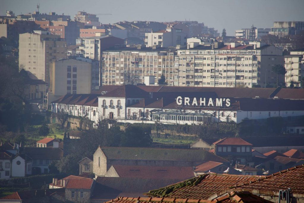 Graham's Port Lodge, in Gaia, Portugal, seen through the fog from Porto. ©KettiWilhelm2020