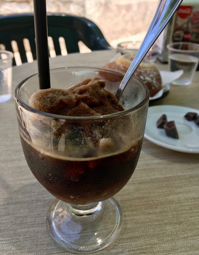 Granita al caffé – coffee-flavored granita – for breakfast in Sicily. ©KettiWilhelm2020