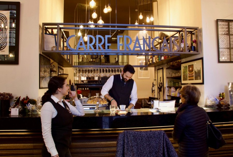 The bar at le Carré Français, my favorite restaurant for breakfast in Rome. ©KettiWilhelm2020