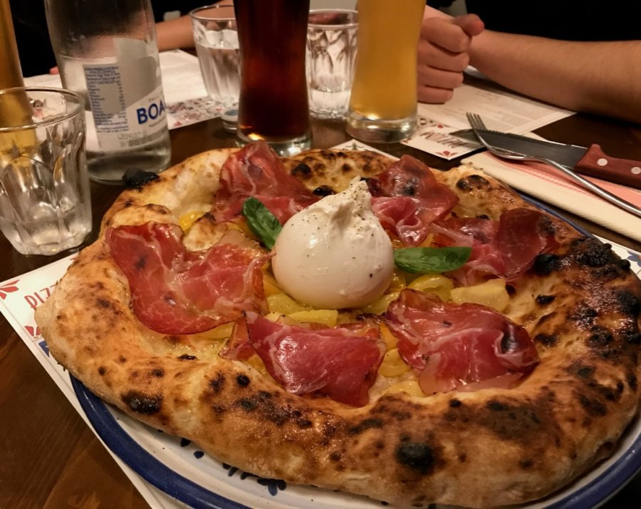A creative pizza at Pizzium, in Milan, Italy. ©KettiWilhelm2020