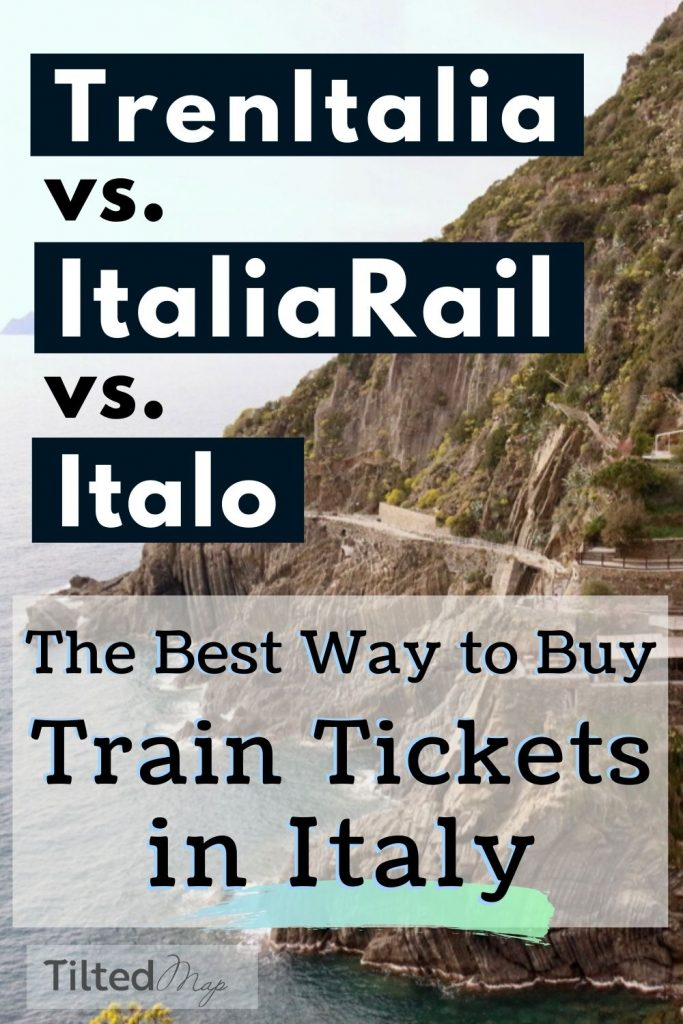 Pin this image to save this Italian travel guide to Pinterest: TrenItalia vs. ItaliaRail vs. Italo – the best and cheapest ways to buy train tickets in Italy. ©KettiWilhelm2020