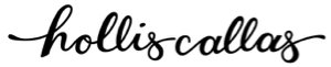 Logo for Hollis Callas (a script font of her name), the graphic designer I've worked with.