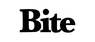 The logo for Bite – my top reviewed plastic-free toothpaste.