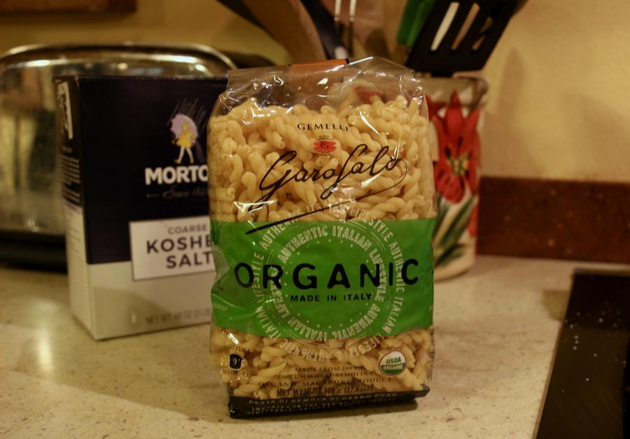 The package of organic Garofalo gemelli pasta used in this recipe. ©KettiWilhelm2021