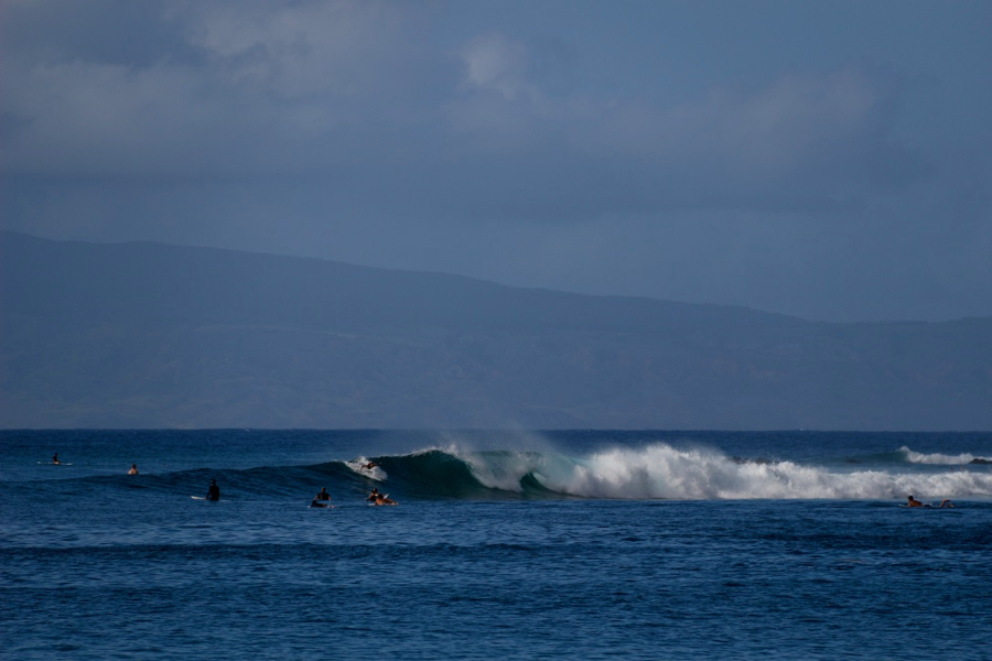 Surfers catching a big wave on Maui's North Shore. ©KettiWilhelm2021