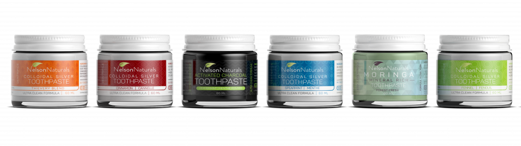 Nelson Naturals' plastic-free toothpaste line, reviewed in this blog post.