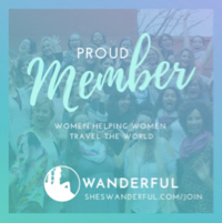 "Tilted Map travel blog is a ""proud member of Wanderful. Women helping women travel the world."""