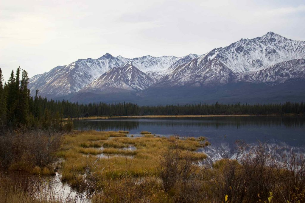 Dramatic mountain view from along the side of the road in the border area between Alaska and Canada's Yukon Territory. ©KettiWilhelm2021