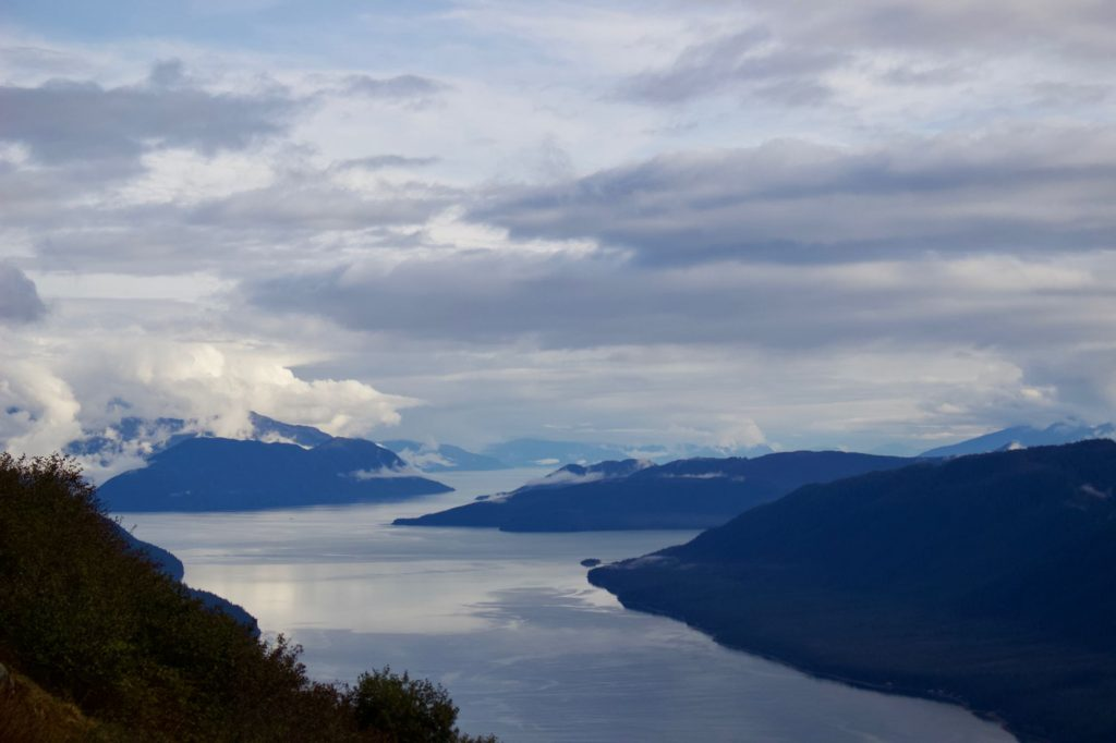 Looking South from Mt. Roberts toward Admiralty Island, and the bays and blue mountains of Southeast Alaska. ©KettiWilhelm2021